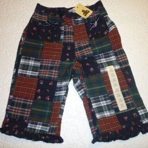 Girls Gap Patch Work Cotton Pants Size 0-3 Months
